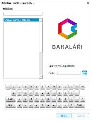 obr. Bakaláři desktopová aplikace